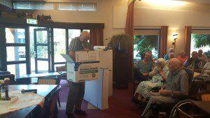 Jan van Santen, Mondial Oostland Verhuizingen, geeft presentatie over zorgverhuizen