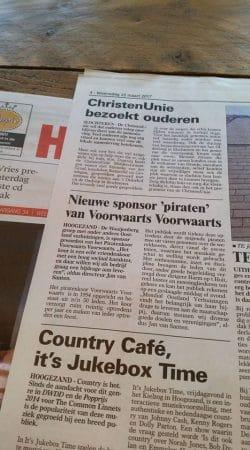 De krant sponsoring