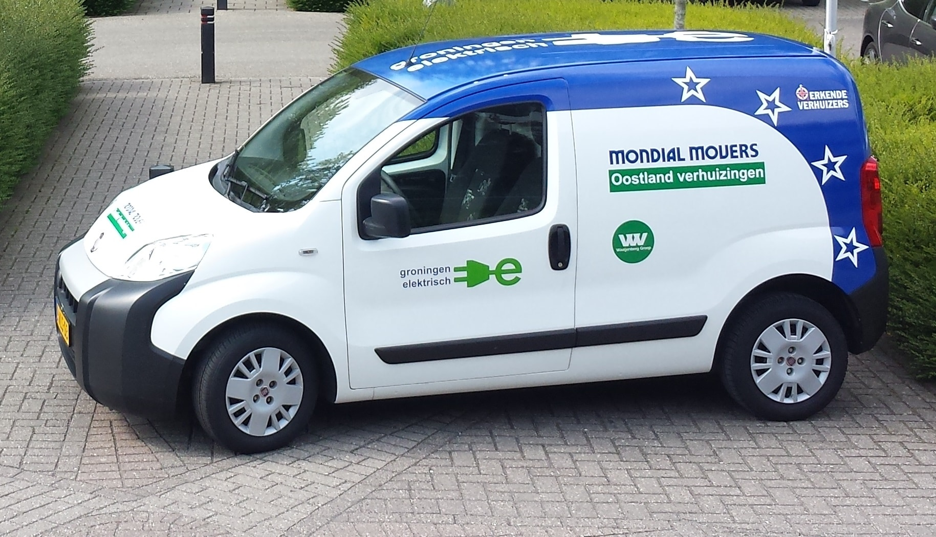 De elektrische verhuiswagen van Mondial Oostland Verhuizingen, 100% duurzaam verhuizen in Groningen en omstreken