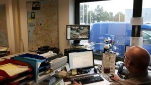 Camerabeveiligingssysteem in opslagfaciliteiten Mondial Oostland