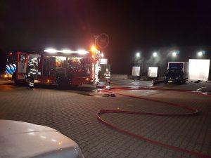 Oefening Brandweer in pand Mondial Oostland Logstics te Kolham