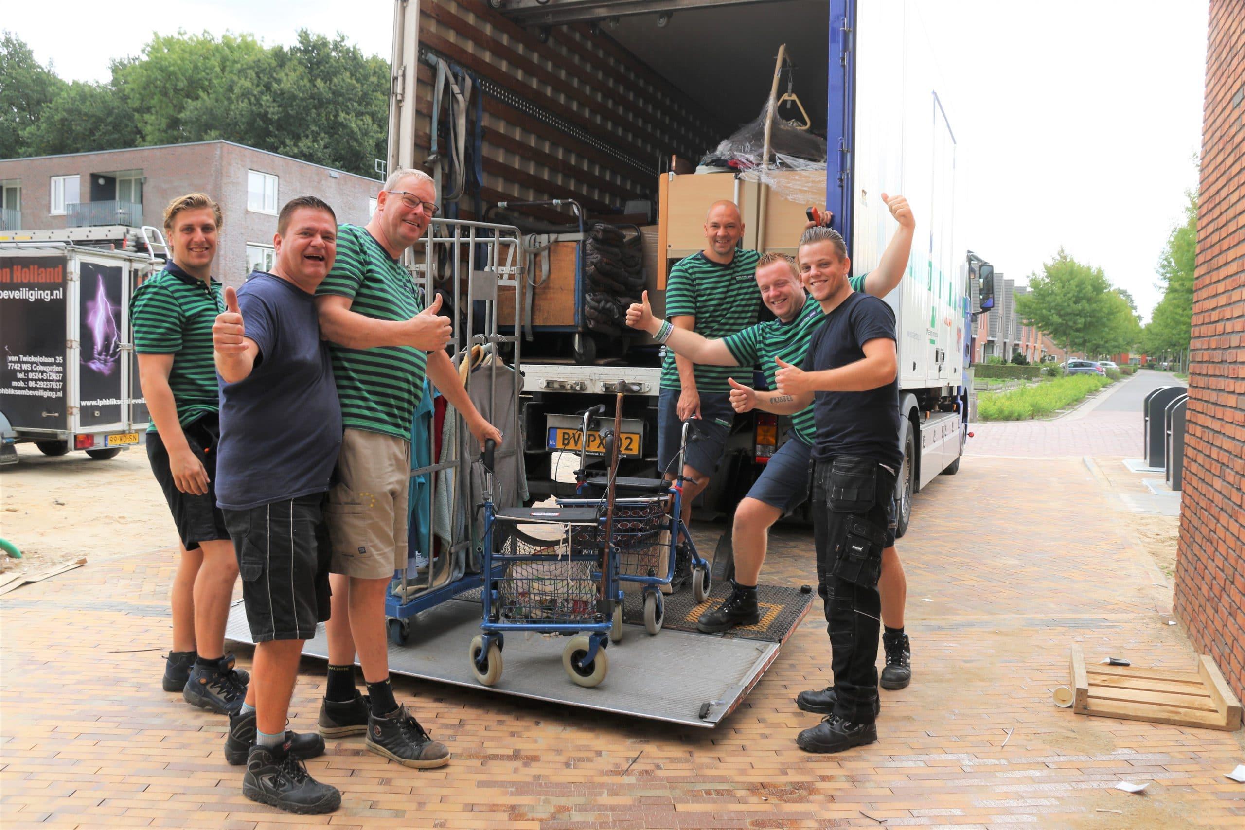 Zorgverhuizer Mondial Oostland Verhuizingen verhuist zorginstelling De Borgerhof te Borger
