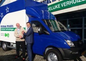 Duurzaam verhuizen met Mondial Oostland Verhuizingen, Maxus Electric Vehicle 80